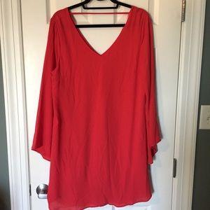 LUSH holiday red dress